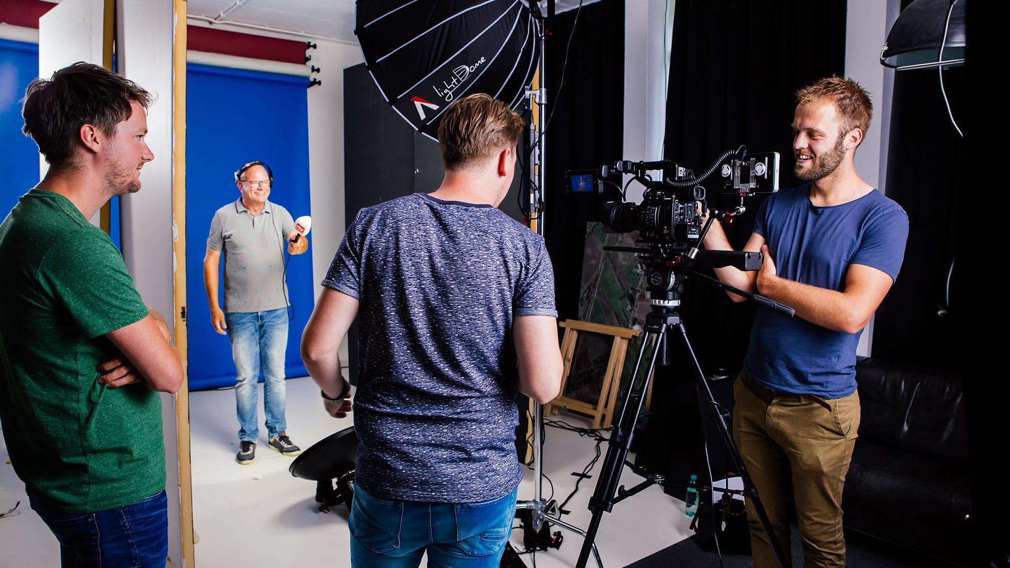 Studioopname voor commercial van RTV Drenthe