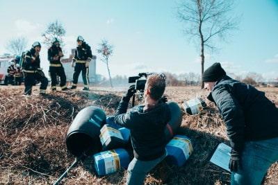 Opnames voor bedrijfsfilm in Emmen